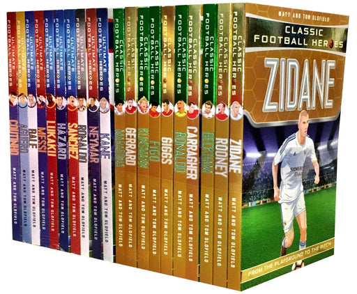 Ultimate & Classic Football Heroes Series 20 Books - Sports - Paperback - Matt & Tom Oldfield 9-14 Dino Books