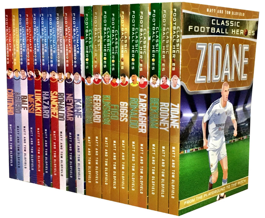 Ultimate & Classic Football Heroes Series 20 Books - Sports - Paperback - Matt & Tom Oldfield - Books2Door