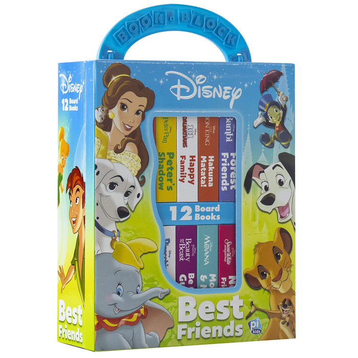 My First Library Disney Best Friends Lion King, Moana, and more 12 Board Books By Disney - Age 0-5