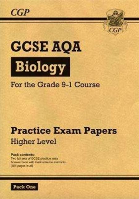 Grade 9-1 GCSE Biology AQA Practice Papers: Higher Pack 1