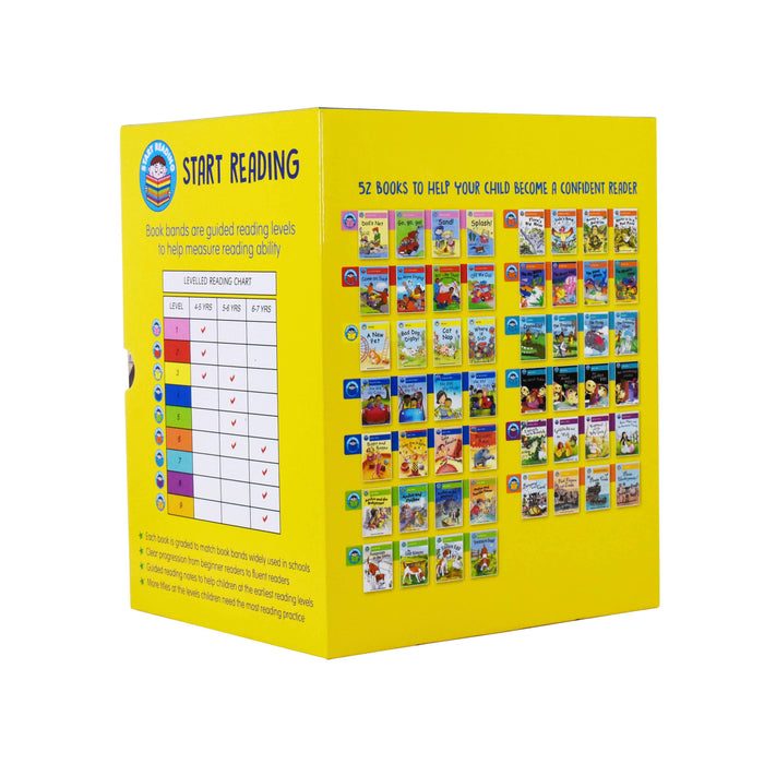 Start Reading 52 Books Collection Box Set Level 1 to 9  - Ages 5-7 - Paperback - Wayland