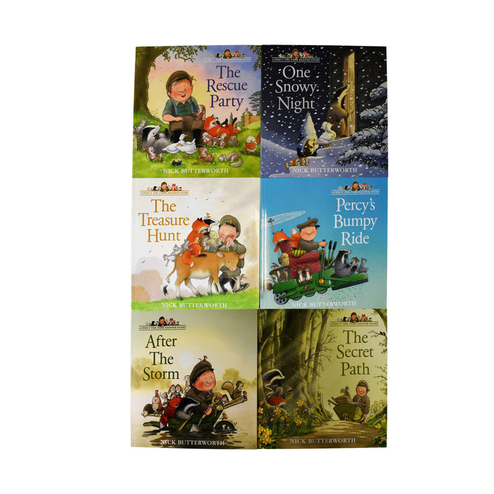 Percy the Park Keeper 6 Books Collection - Ages 5-7 - Paperback - Nick Butterworth