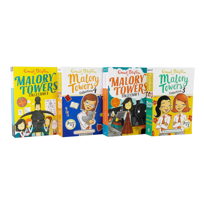 Malory Towers 4 Book 12 Story Collection - Ages 9-14 - Paperback - Enid Blyton 9-14 Hodder & Stoughton