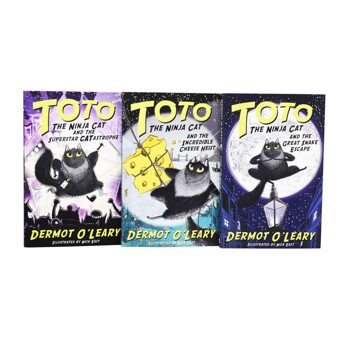 Toto the Ninja Cat Series 3 Books Collection By Dermot O'Leary - Paperback - Age Group 7-9