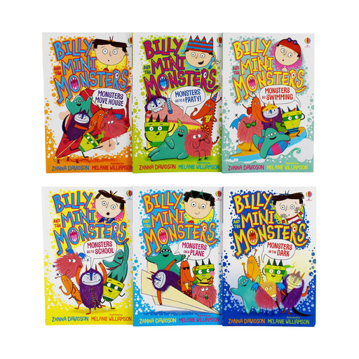 Billy and The Mini Monsters 6 Books Collection Set By Zanna Davidson - Paperback - Age 5-7