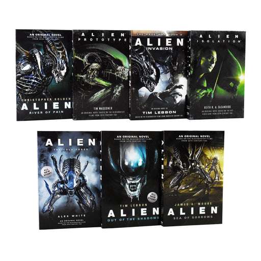Alien Series 7 Books Collection Set - Young Adult - Paperback - James A Moore, Tim Lebbon..