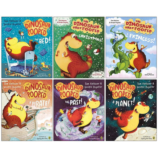 The Dinosaurs That Pooped Collection 6 Books Set by Tom Fletcher - Ages 5-7 - Paperback