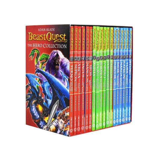 Beast Quest The Hero Series 1, 2 and 3 Collection 18 Books Box Set - Ages 9-14 - Paperback - Adam Blade