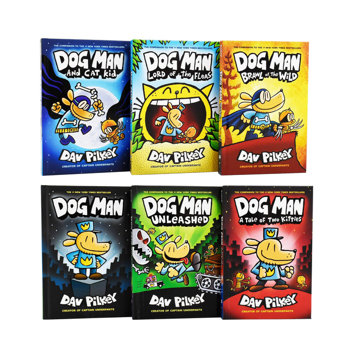 Dog Man The Supa Epic Collection 6 Books Box Set - Ages 9-12 - Hardcover - Dav Pilkey