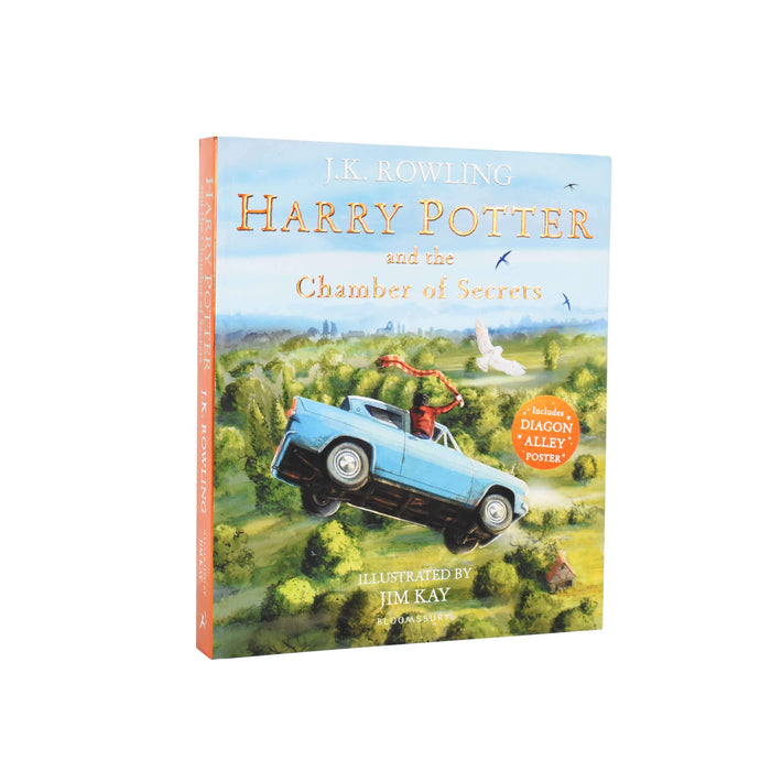 Harry Potter and the Chamber of Secrets: Illustrated Edition By J.K. Rowling - Paperback - Young Adults