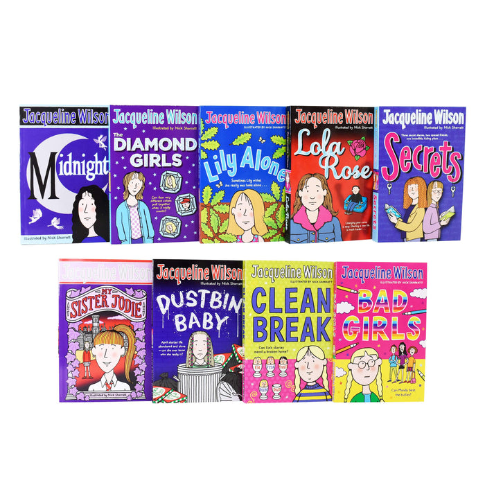 Jacqueline Wilson 9 Books Collection Set - Paperback - Age 9-14 9-14 Corgi Yearling