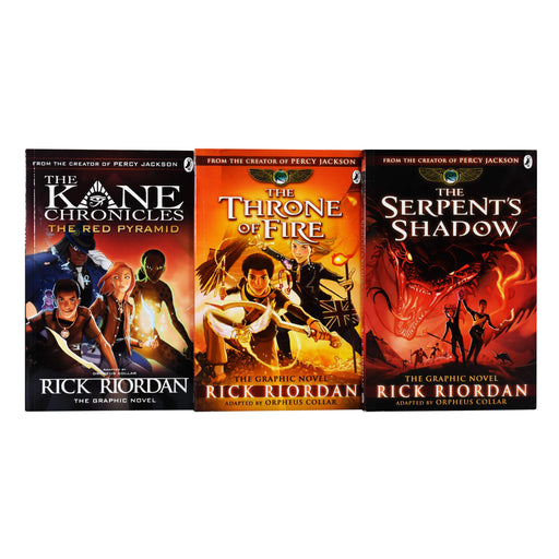 Kane Chronicles Graphic Novels 3 Books Collection Set By Rick Riordan - Paperback - Age 9-14
