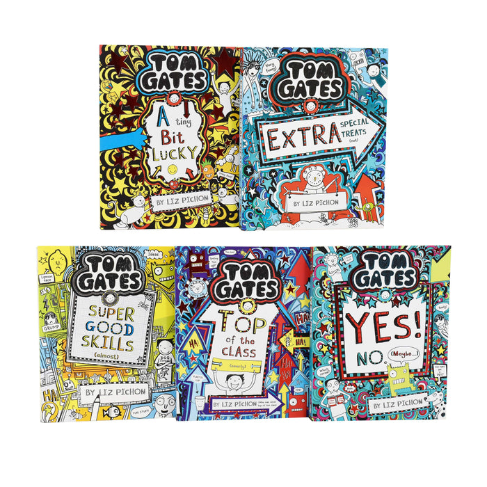 Tom Gates 5 Books Collection Set Series 3 (11-15) By Liz Pichon - Paperback - Ages 9-14