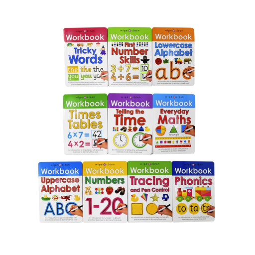Wipe and Clean Workbooks 10 Book Collection - Ages 0-5 - Paperback - Priddy Books