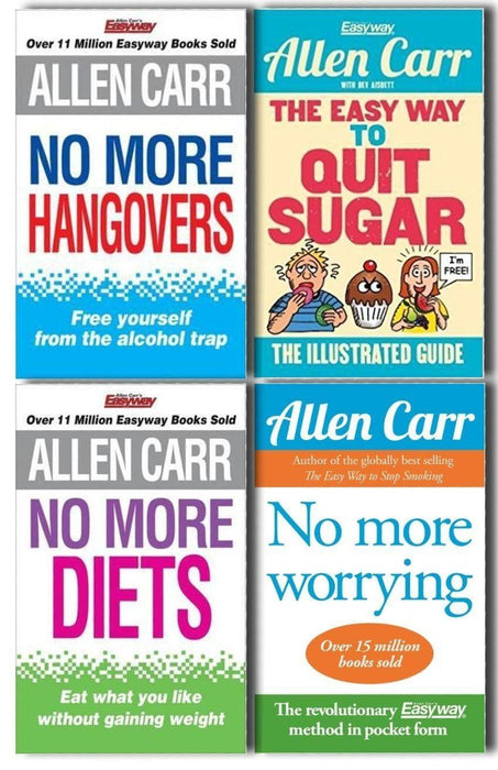 Allen Carr Set 4 Book Collection - Paperback - Books2Door