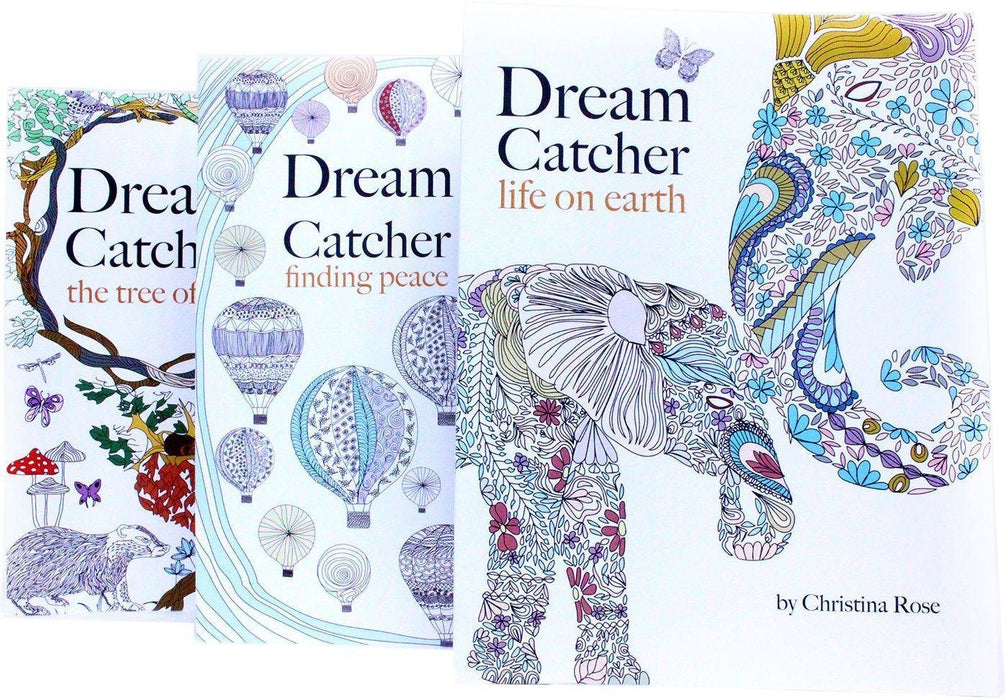 Dream Catcher Anti-Stress Adult Colouring 3 Book Collection - Paperback - Christina Rose - Books2Door
