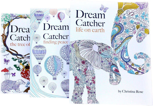 Dream Catcher Anti-Stress Adult Colouring 3 Book Collection - Paperback - Christina Rose Bell & Mackenzie