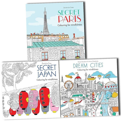 Dream Cities Adult Colouring for Mindfulness 3 Books - Paperback - Hamlyn - Books2Door