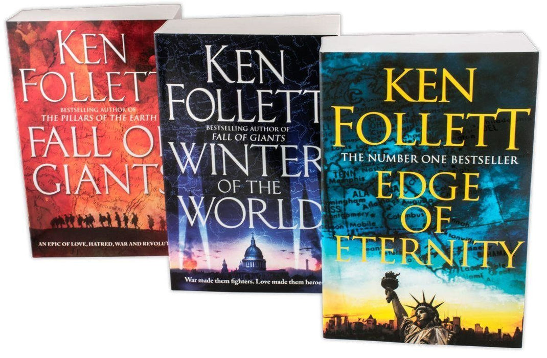 Ken Follett Century Trilogy War Stories Collection 3 Books Set - Historical Novel - Paperback - Books2Door