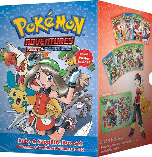 Pokemon Adventures Ruby & Sapphire Collection 8 Books Box Set - Manga - Paperback - Hidenori Kusaka - Books2Door