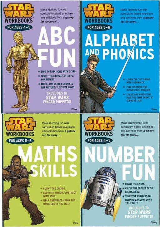 Star Wars 4 Work Books Set - Make Learning Fun (Ages 4-6) - Paperback - Disney - Books2Door