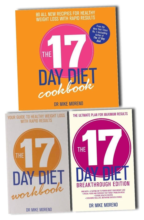 The 17 Day Diet  By Mike Moreno 3 Book Set - Books2Door