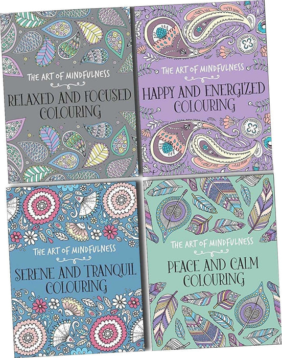 The Art of Mindfulness Adult Colouring Therapy 4 Books Collection Set - Books2Door