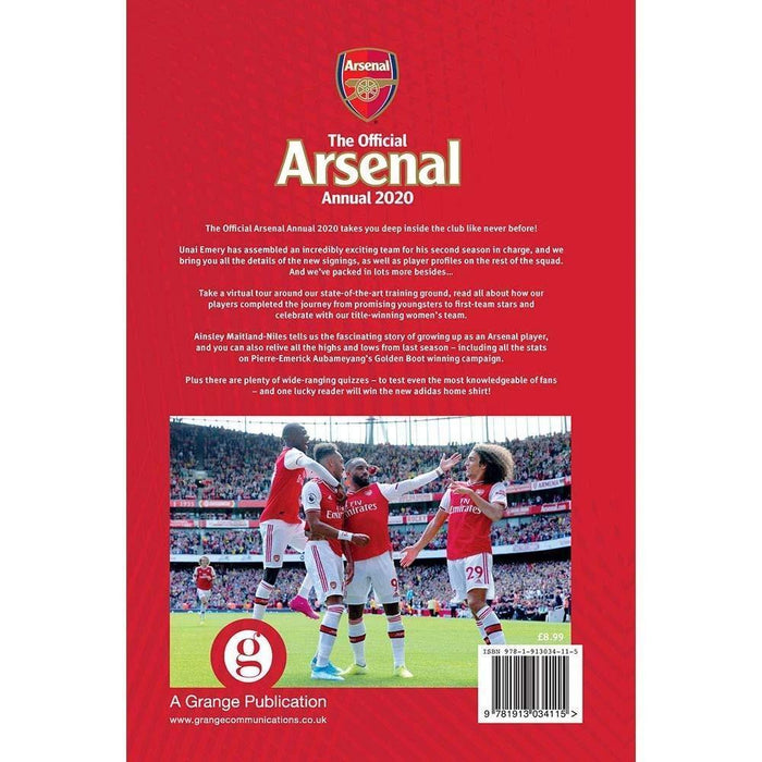 The Official Arsenal FC Annual 2020 - Hardback - Josh James - Books2Door