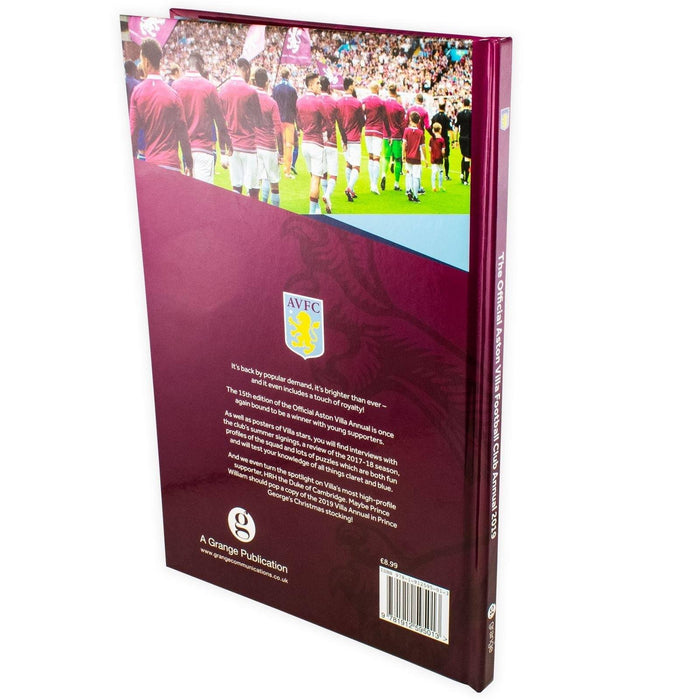 The Official Aston Villa Annual 2019 - Hardback - Rob Bishop Grange Communications Ltd