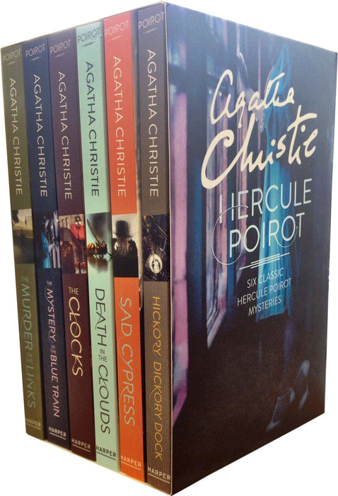 Agatha Christie Hercule Poirot Classic Mysteries 6 Books - Detective Fiction Genre - Paperback - Books2Door