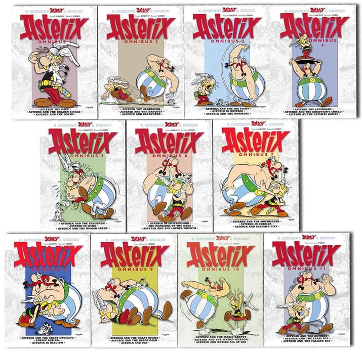 Asterix Omnibus 33 titles 11 Books Collection Paperback - Young Adult - Paperback -  Rence Goscinny - Books2Door