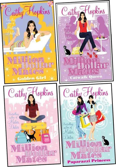 Cathy Hopkins Million Dollar Mates collection 4 Books set - Young Adult - Paperback Young Adult Simon & Schuster