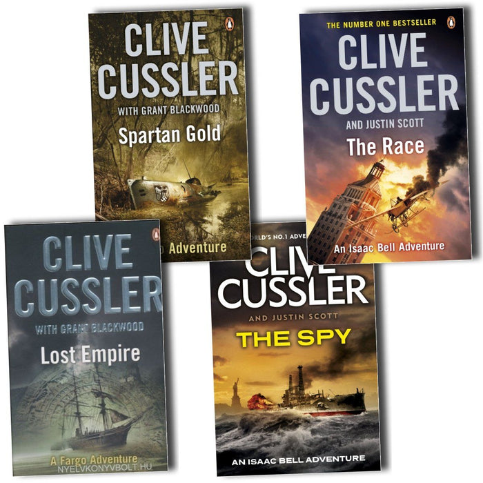Young Adult - Clive Cussler Fargo Adventure & Isaac Bell Adventure 4 Book Collection - Adult - Paperback