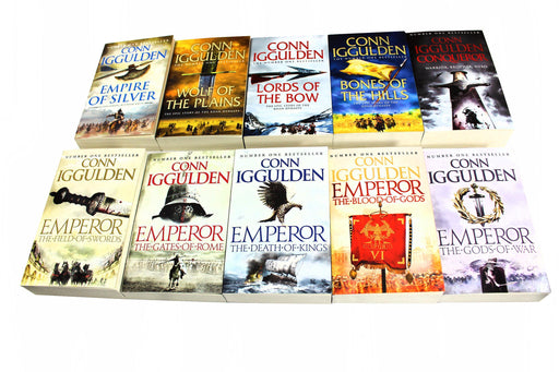 Conn Iggulden Conqueror and Emperror Series 10 Books Collection - Young Adult - Paperback - Books2Door