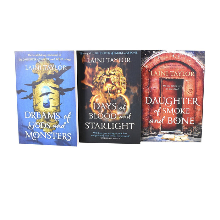 Daughter of Smoke and Bone 3 Book Trilogy - Young Adult - Paperback - Laini Taylor - Books2Door