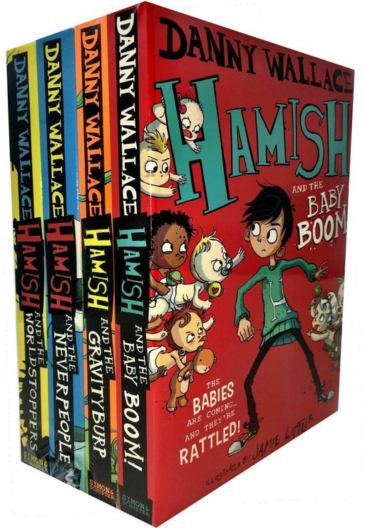 Hamish Series 4 Books Collection Set - Young Adult - Paperback - Danny Wallace - Books2Door