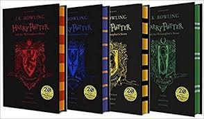 Young Adult - Harry Potter And The Philosophers Stone 4 Books Collection Set By J K Rowling - Slytherin, Ravenclaw, Gryffindor, Hufflepuff - Hardcover