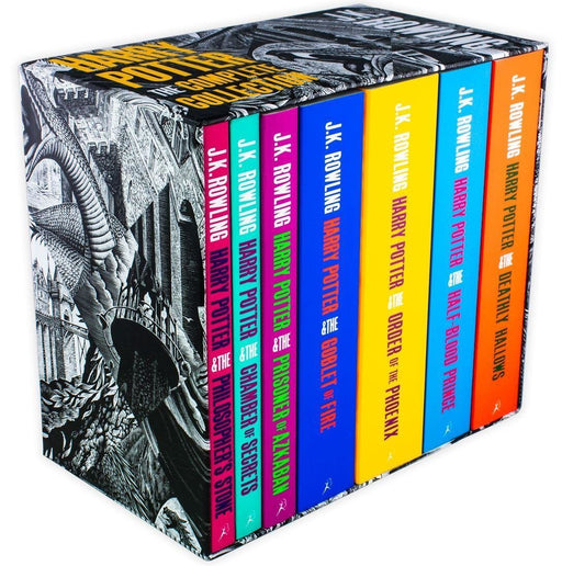 Harry Potter The Complete Collection (Black and White Case) - Young Adult - Paperback - J. K. Rowling Young Adult Bloomsbury Publishing