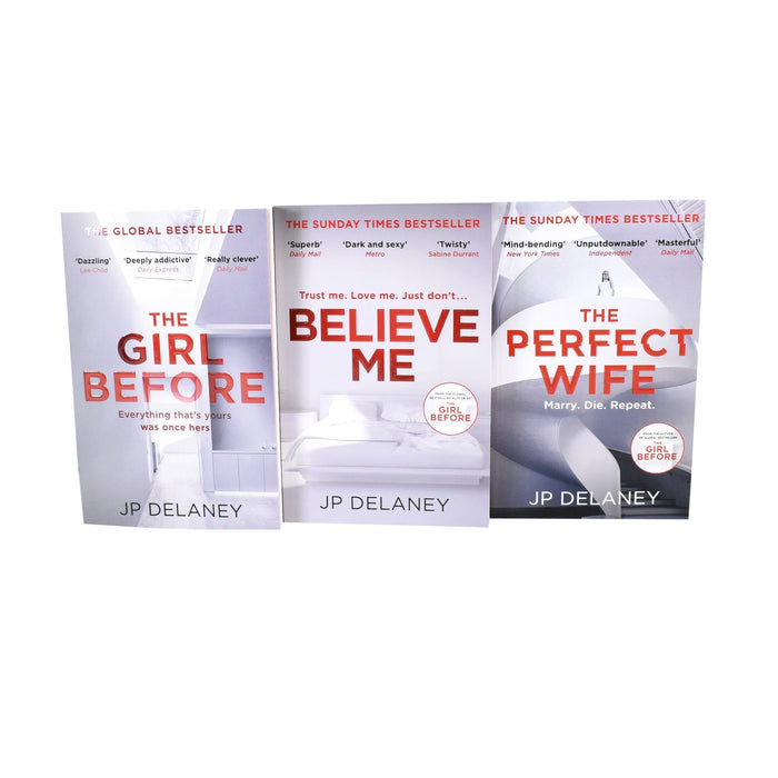 Young Adult - JP Delaney Collection 3 Books Set - Believe Me, The Girl Before, The Perfect Wife - Paperback - Young Adult