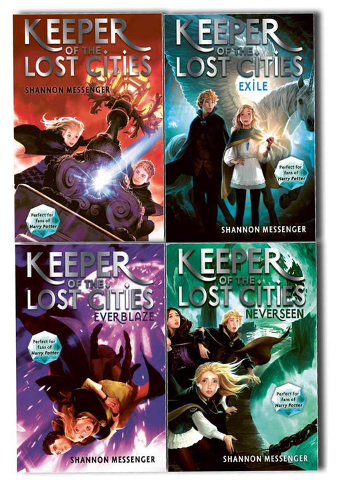 Young Adult - Keeper Of The Lost Cities 4 Books Collection By Shannon Messenger- Paperback - Young Adult