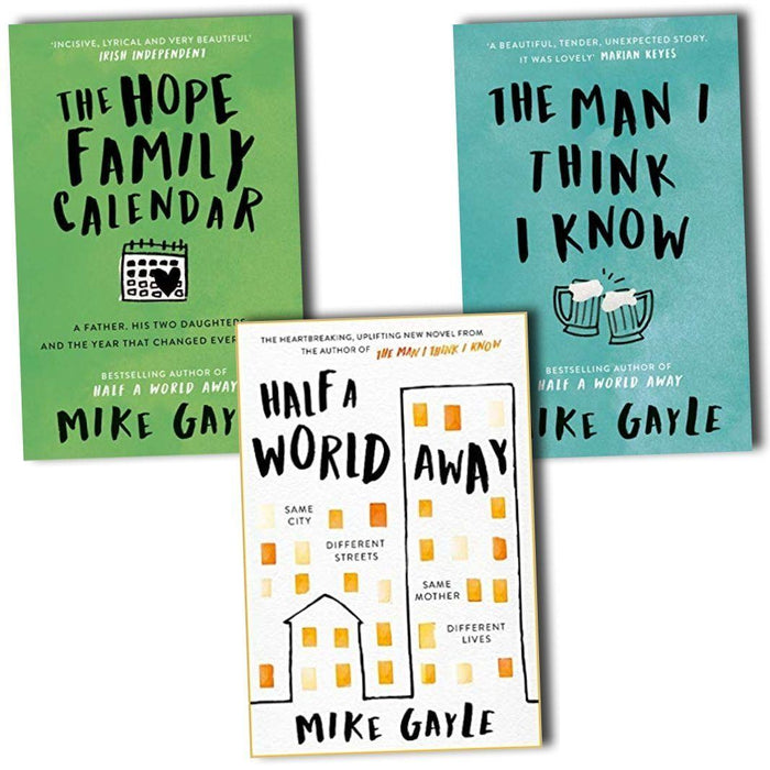 Young Adult - Mike Gayle 3 Books Collection Set (Half A World Away, The Man I Think I Know & The Hope – Young Adult - Paperback