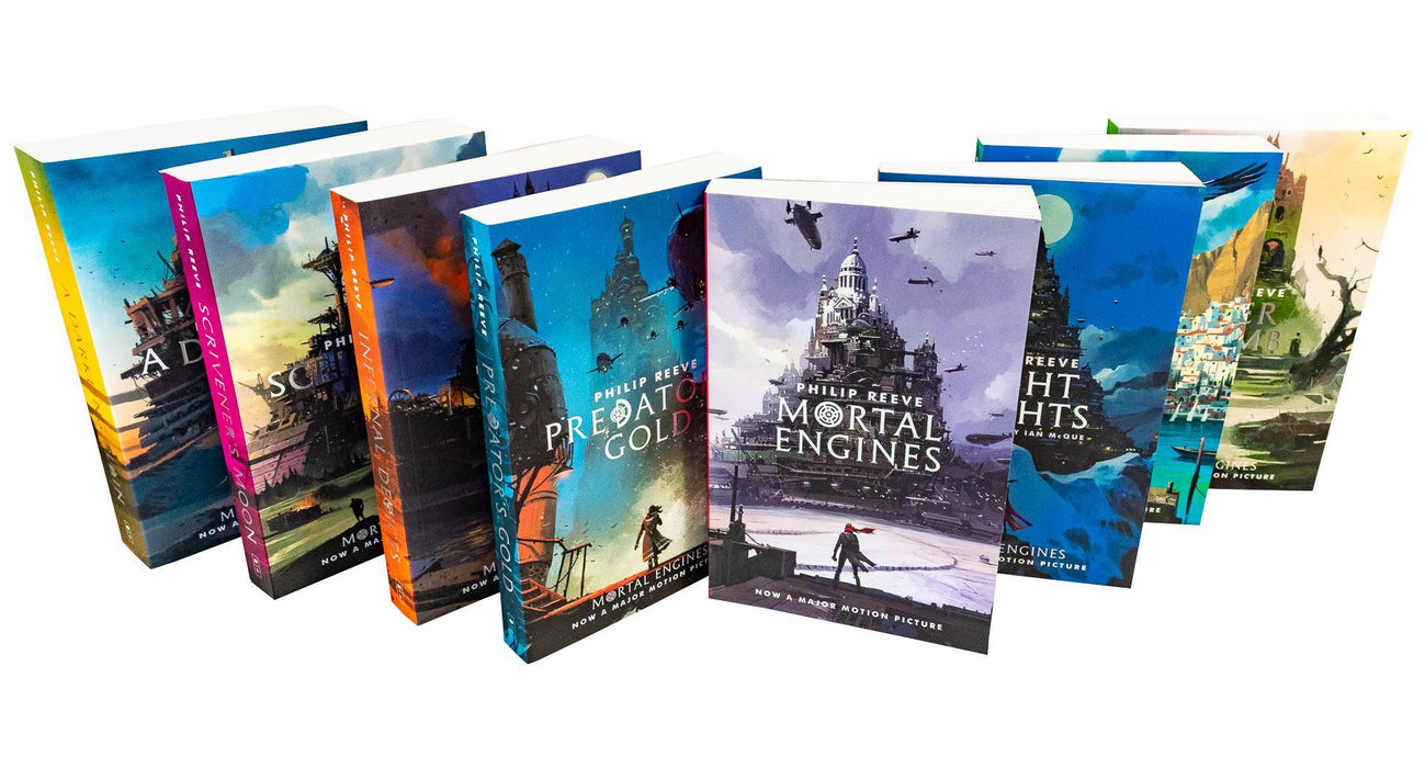 Mortal Engines Quartet 8 Books - Young Adult - Paperback - Philip Reeve - Books2Door
