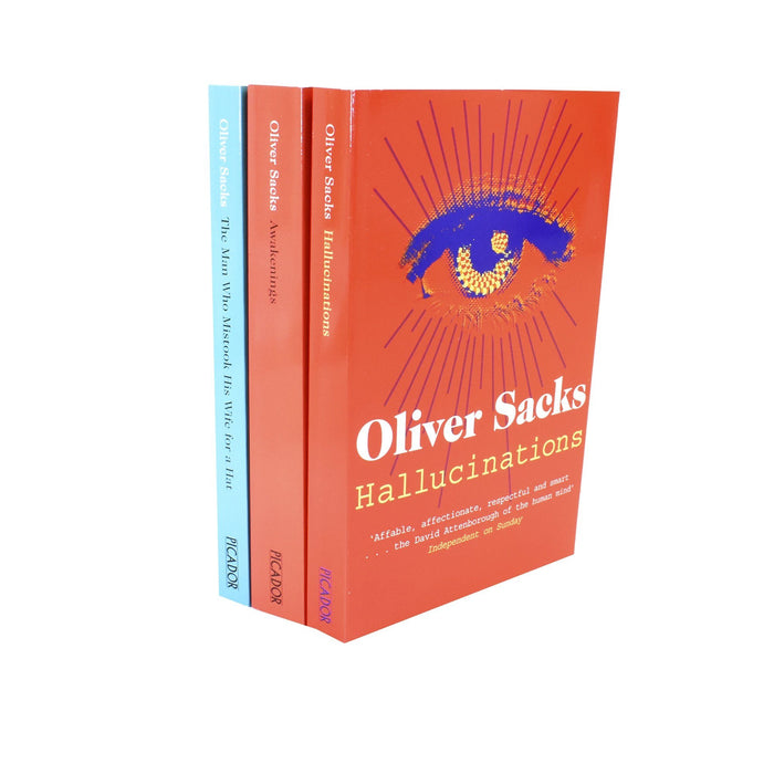 Oliver Sacks 3 Books Collection Set (The Man Who Mistook His Wife for a Hat, Hallucinations, Awakenings) - Fiction - Paperback Young Adult Picador
