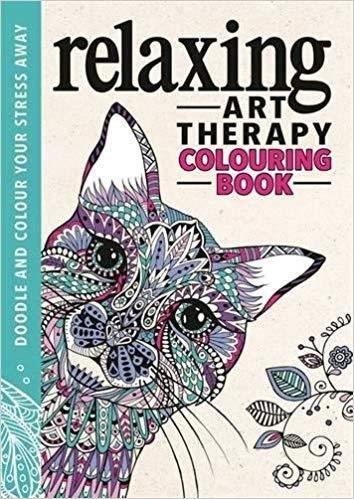 Relaxing Art Therapy Anti-Stress Colouring Book - Paperback - Cindy Wilde Young Adult Michael O'Mara Books Limited