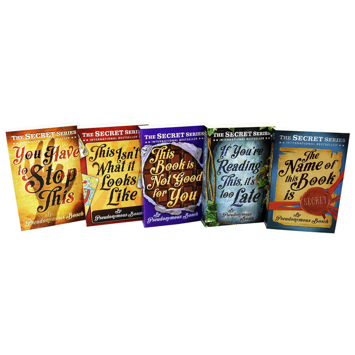 Young Adult - Secret Series 5 Books - Adult - Collection Paperback Set By Pseudonymous Bosch