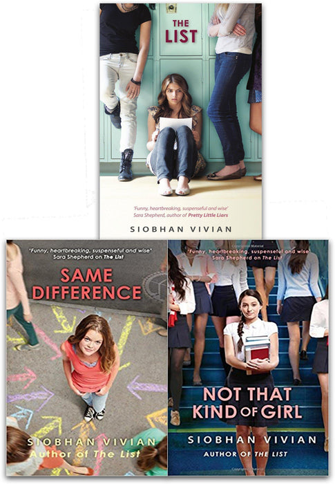 Siobhan Vivian Collection 3 Books Set (The List, Same Difference, Not That Kind Of Girl ) - Young Adult - Paperback - Books2Door