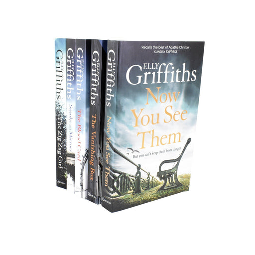 Young Adult - The Brighton Mysteries Series Books 1-5 Collection Set - Fiction - Paperback - Elly Griffiths