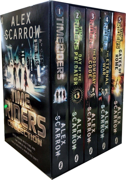 Time Rider Collection Alex Scarrow 5 Books Box Set - Young Adult - Paperback Young Adult Puffin