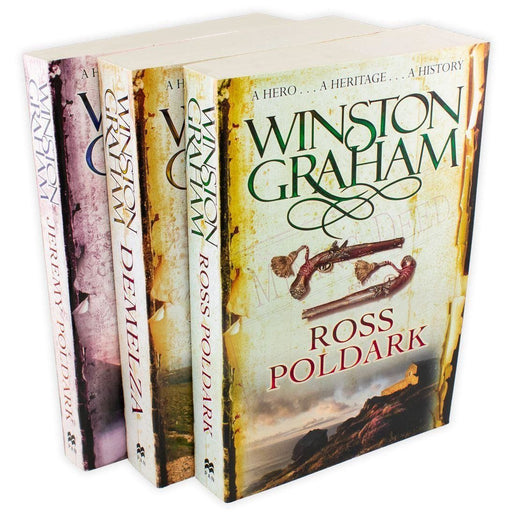 Winston Graham Poldark Series 3 Book Collection - Books 1-3 - Adult - Paperback Young Adult Pan Macmillan