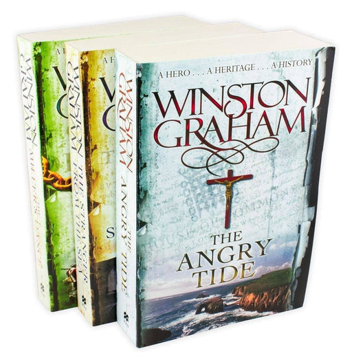 Winston Graham Poldark Series 3 Book Collection - Books 7-9 - Adult - Paperback Young Adult Pan Macmillan